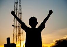 Vitória ao sol Foto de Stock