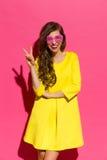 Vitória cor-de-rosa Imagens de Stock