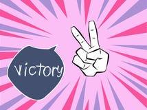 Vitória da mão Fotos de Stock