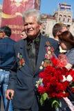 Vitória da parada em Kiev, Ucrânia Fotos de Stock Royalty Free
