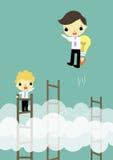 Vitória das vantagens competitivas com ideia ilustração stock