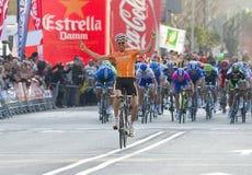 Vitória do ciclista Foto de Stock Royalty Free