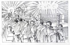 Vitória do encaixotamento ilustração royalty free