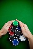 Vitória do póquer Foto de Stock Royalty Free