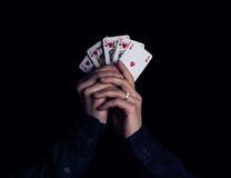 Vitória do pôquer Fotos de Stock Royalty Free