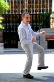 Vitória do sucesso do homem de negócios Fotos de Stock Royalty Free