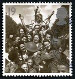 Vitória no selo postal de Europa Reino Unido Foto de Stock