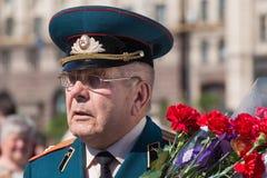Vitória o 9 de maio de 2013 Kiev da parada, Ucrânia Fotografia de Stock