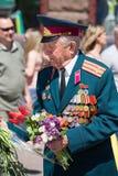 Vitória o 9 de maio de 2013 Kiev da parada, Ucrânia Imagens de Stock