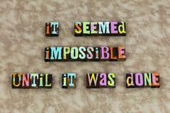 Vitória possível impossível do foco do sucesso ilustração do vetor
