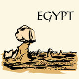 Vit öken Egypten royaltyfri illustrationer