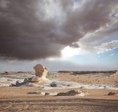 Vit öken i Egypten Arkivfoto