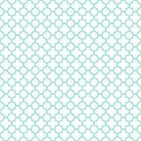 Vit- & aquaquatrefoilmodell, sömlös texturbakgrund Royaltyfri Foto