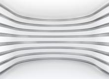 Vit arkitekturcirkulärbakgrund Arkivbild