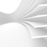 Vit arkitekturcirkulärbakgrund futuristic interior Fotografering för Bildbyråer