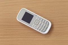 Vit av mobiltelefonen Arkivbilder