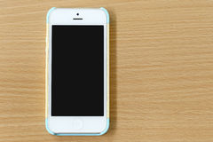 Vit av mobiltelefonen Arkivbild