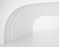 Vit båge-formad tunnel 3d framför Arkivbild