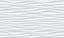 Vit bakgrund för abstrakt begrepp 3D för vektor för vågmodell vektor illustrationer