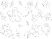 VIT BAKGRUND FÖR BLOMMAVÅRMODELL vektor illustrationer
