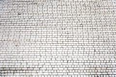 Vit bakgrund för grungetegelstenvägg Arkivfoto