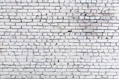 Vit bakgrund för tegelstenvägg Arkivfoto