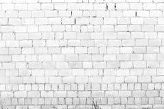 Vit bakgrund för tegelstenvägg arkivbild