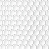 Vit bakgrund - geometrisk sömlös textur Arkivbild