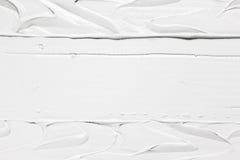 Vit bakgrund, krämig textur, murbrukeffekt Fotografering för Bildbyråer