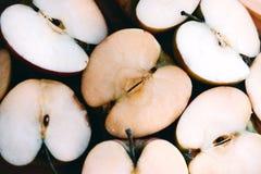 Vit bakgrund, ljusa objekt seamless äpplebakgrund Arkivfoton