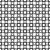 Vit bakgrund och svart repeted prickmodell Arkivfoto