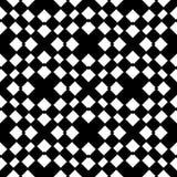 Vit bakgrund och svart repeted prickmodell Arkivbilder