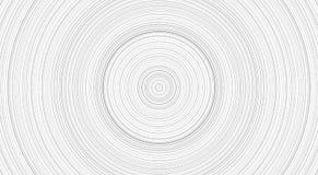 Vit baksida med treerings, rund vit blick stock illustrationer