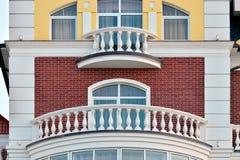 Vit balkong Royaltyfria Bilder