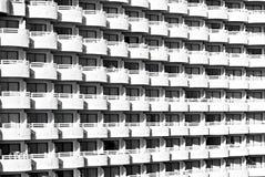 Vit balkongmodell Royaltyfri Fotografi