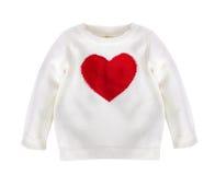 Vit behandla som ett barn den isolerade tröjan Arkivfoto