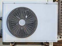 Vit belägger med metall luftar kompressorn Royaltyfri Foto
