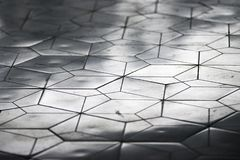 Vit belagd med tegel modell med reflekterande ljus i perspektiv fotografering för bildbyråer
