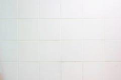 Vit belagd med tegel vägg Fotografering för Bildbyråer