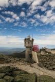 Vit bergobservatorium Arkivbilder