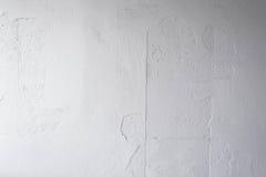 Vit betongväggpeel av målat Arkivfoto