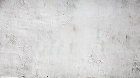 Vit betongväggtextur med murbruk Arkivfoton