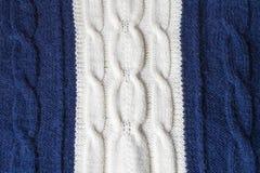 Vit bicolor ulltexturbakgrund för blått och arkivbild