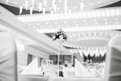 Vit bild för svart & av bröllopgarnering Royaltyfria Foton