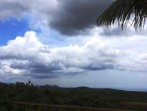Vit blå himmel Royaltyfri Fotografi