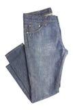 vit blå isolerad jeans för bakgrund Royaltyfria Bilder
