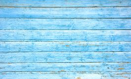 Vit blå träplanka arkivfoto