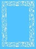 Vit-blått ram Royaltyfri Bild