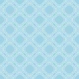 Vit blom- sömlös design på blå bakgrund