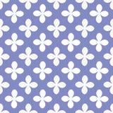Vit blomma på sömlös modell för purpurfärgad bakgrund Vektorbackg Fotografering för Bildbyråer